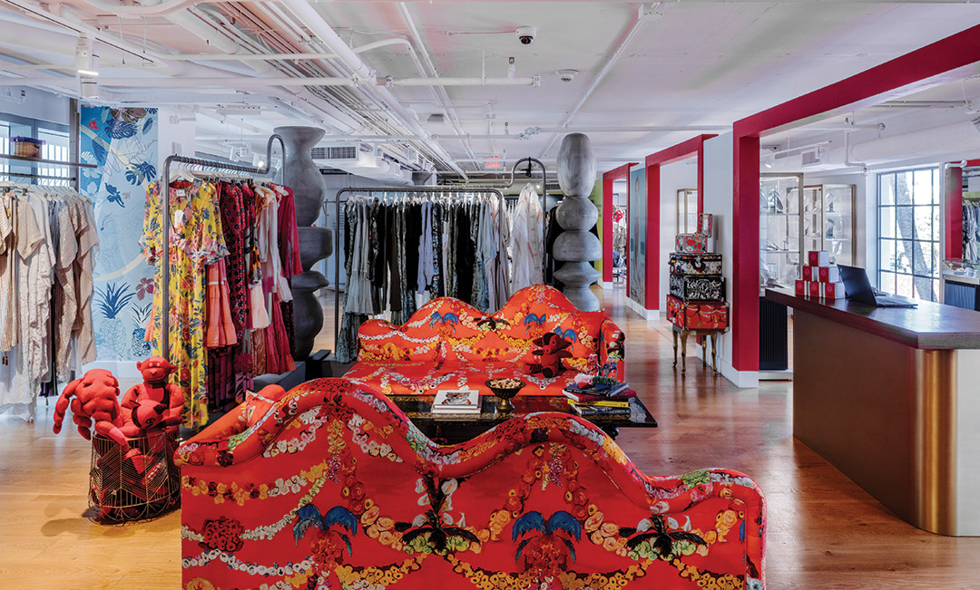 faena bazaar inside store with clothing racks