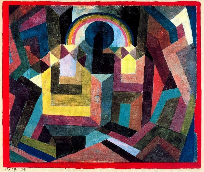 Abstract painting of rainbow by Paul Klee