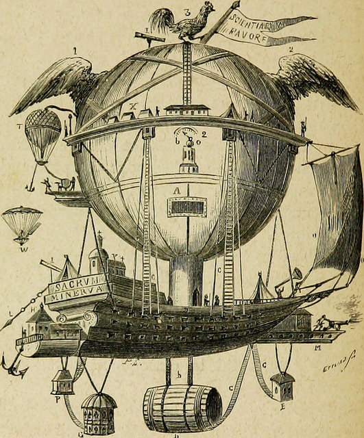 Illustration of a fantastical air balloon.