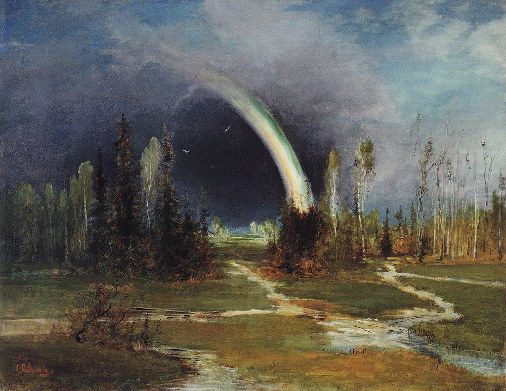 Landscape with Rainbow, Alexey Savrasov (1881)