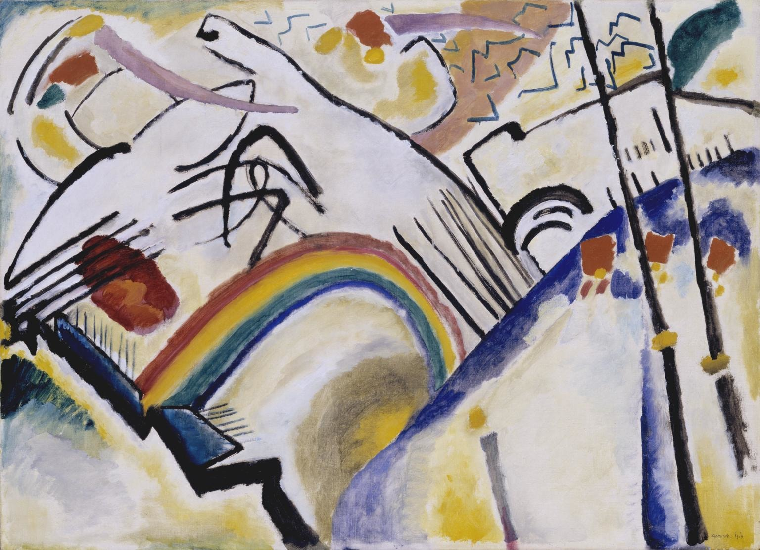 Abstract painting of rainbows by Wassily Kandinsky.