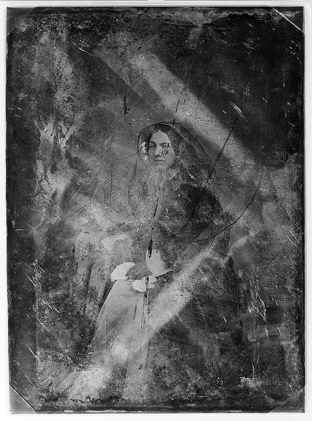 Daguerreotype portrait of a seated woman