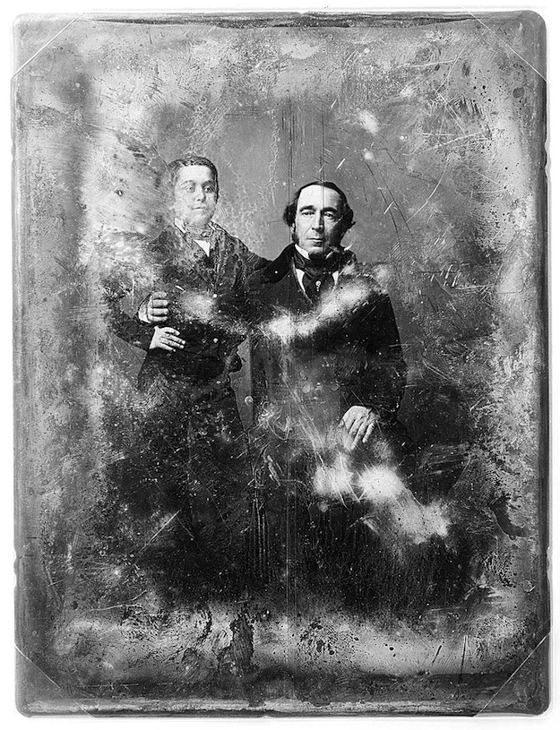 Daguerreotype portrait of a father and son