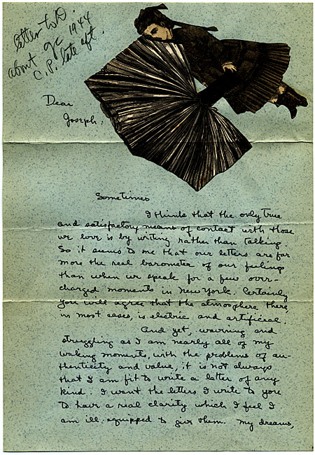 Letter written by Dorothy Tanning