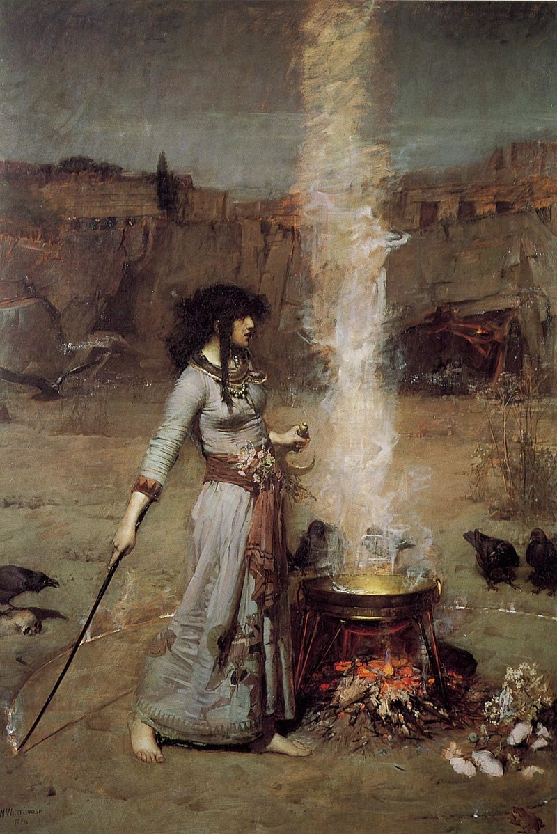 A witch brewing up a potion