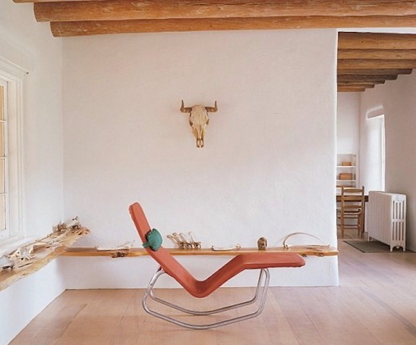 Lounge chair in Georgia O'Keefe's studio – Abiquiu, New Mexico
