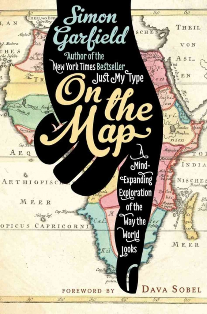 book cover showing map of africa with illustrated hand pointing down
