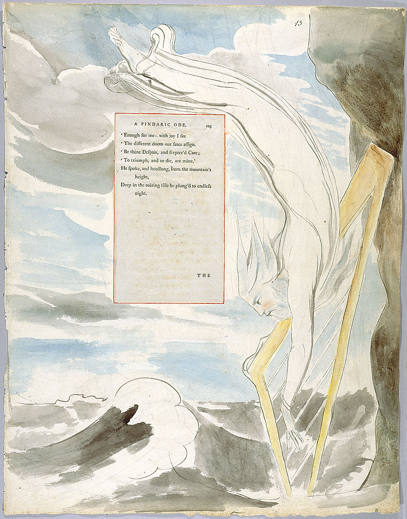 william blake painting from the poems of thomas gray