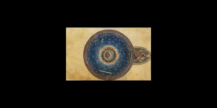 Concentric circles with christian imagery