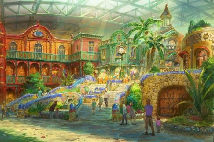 An illustration of the indoor theme park