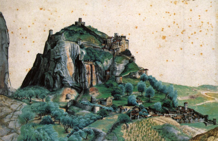 Painting of lost city of Lebtit