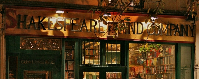 The outside of a bookstore called Shakespeare and Company
