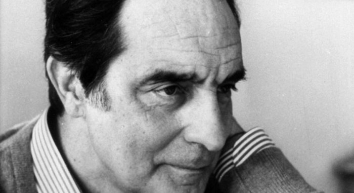 Close up of Italo Calvino's face