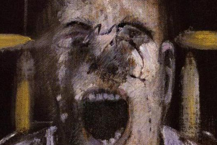 painting of a screaming man