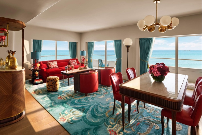 interior view of premier oceanfront corner suite