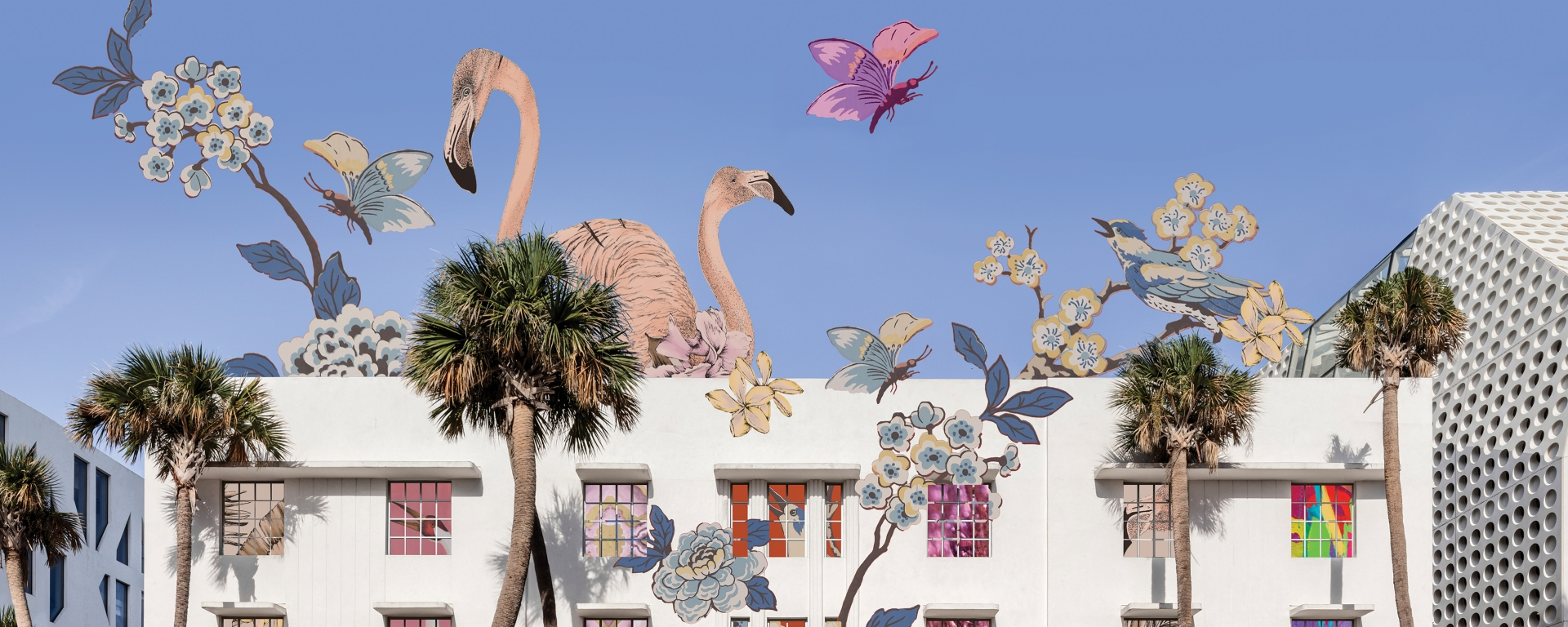 Faena Bazaar Building Exterior Animation