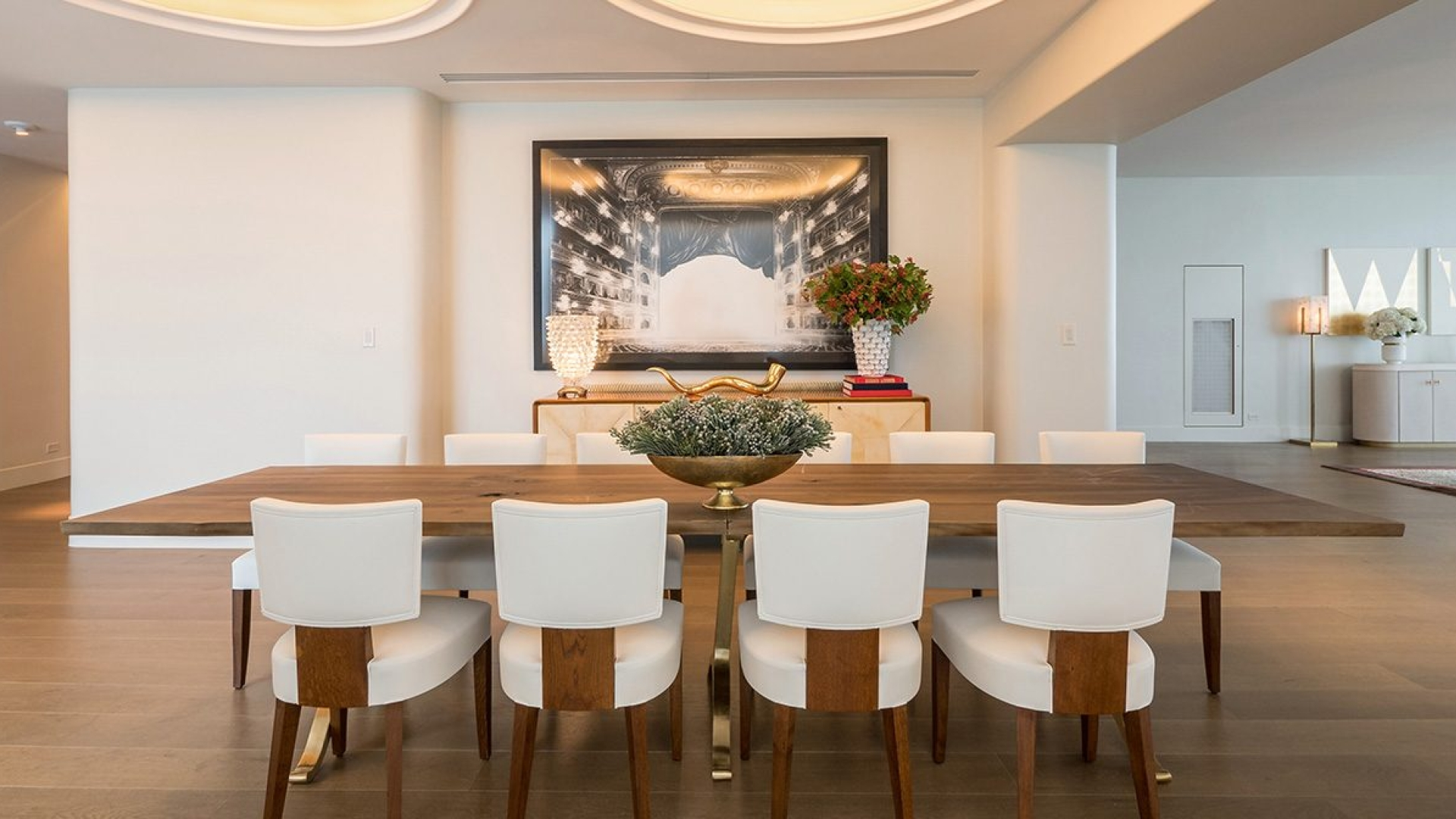 dining table in hotel penthouse