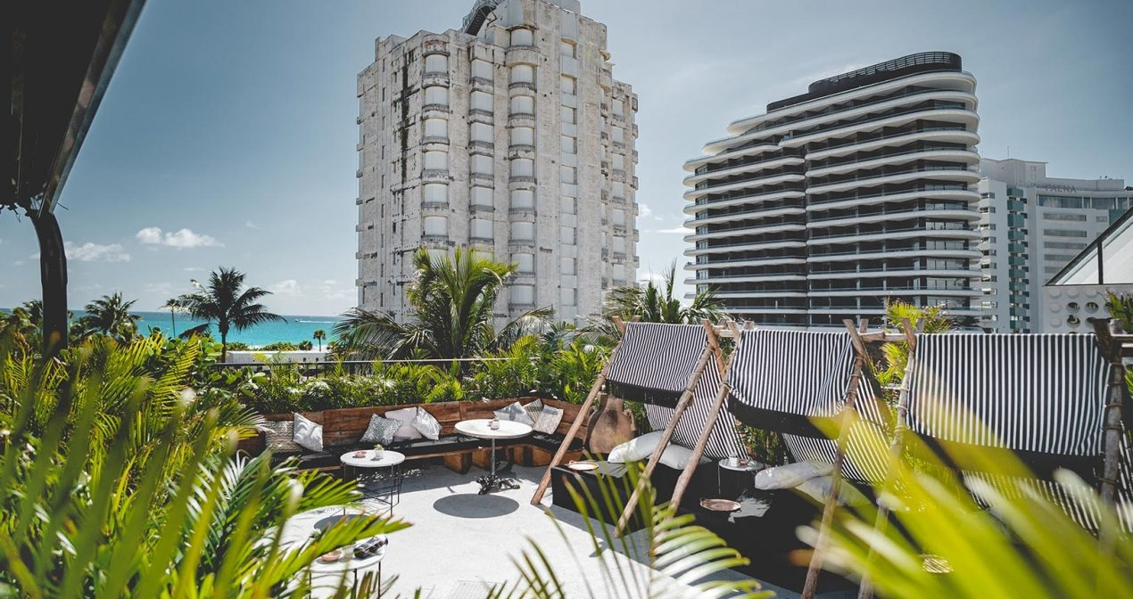 rooftop bar at Gitano overlooking Miami Beach