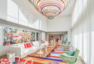 Faena Spa waiting area