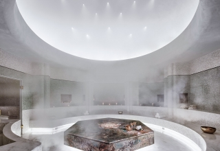 faena spa marble steam room